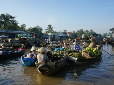 Private cruise aboard a sampan in the Mekong Delta